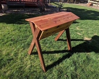 Beehive handmade in Colorado.  Top bar style.  100% cedar construction.