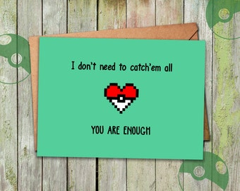 Pokemon Valentine, Valentines Day Card, Valentine Card, Anniversary Card, Valentine Card Boyfriend, Valentine Card Girlfriend, Pokemon Gifts