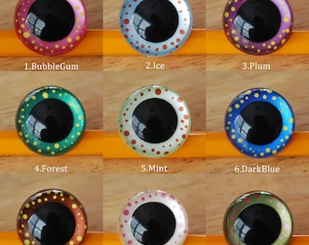Magic in your eyes hand painted eyes 12mm 15mm 18mm 21mm safety eyes - your choice of size