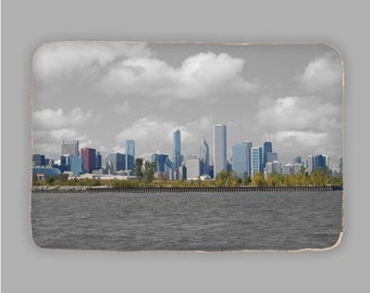 Chicago Skyline Sherpa Blanket