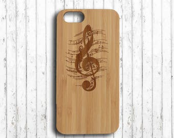 Music symbol  iphone 6 case  iphone 7 plus case wood  iphone 6s wood case wood  iphone 6s plus case  iphone 6 case bamboo
