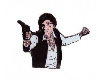 Pinch Co X Catsneeze Han Solo Lapel Pin - Han Solo Star Wars Enamel Pin Badge