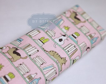 Japanese modern cat fabric