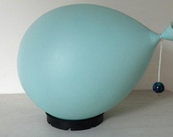 BILUMEN BALLOON lamp, baby blue MEDIUM size 1970s 1980s childrens ceiling or wall light, Italian design, midcentury Mc
