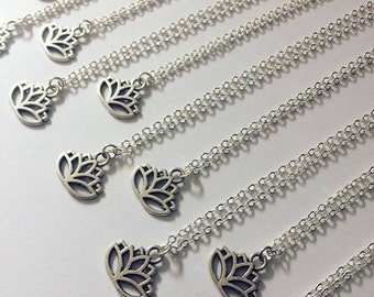 NEW Lotus Necklace, Silver Lotus Necklace, Lotus Choker, Lotus Jewellery, Lotus Jewelry, Gift for Her, Hippie Gift, Yoga Zen Jewellery