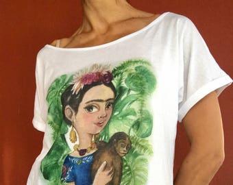 "T-shirt 100% cotton ""Frida"""