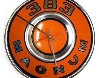 1969 - 1971 Dodge 383 Magnum Wall Clock - Mopar Challenger Charger Super Bee Coronet Super Bee - 1970