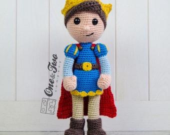Prince Tristan Amigurumi - PDF Crochet Pattern - Instant Download - Amigurumi crochet Cuddy Stuff Plush