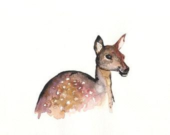 Deer I-Art print of an original watercolor