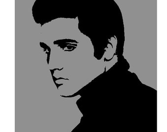 Elvis Presley Stencil (Reusable)