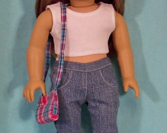 American Made 18 inch Doll Denim Boot Cut Jeans