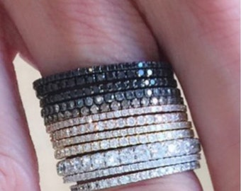 Pave diamond cz  band gorgeous-  1 band for sale, choose your size and color.