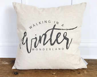 Walking in a Winter Wonderland Pillow Cover (Design by Whitney Cole)