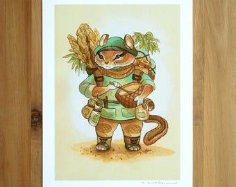 Chipmunk Baker - Fine Art Print by Nicole Gustafsson