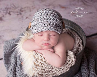 Newborn Boys Hat, Baby Boys Hat, Newsboy Hat, Newsboy Cap, Pageboy Hat, Gender Neutral, Newborn Photo Prop Boy, Newborn Boy, Newborn Knit