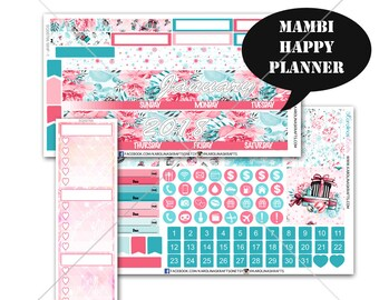 Winter MONTHLY Planner Kit, Happy Planner Stickers, Mambi Stickers, Monthly Sticker Kit, Winter Stickers, Christmas Stickers #SQ00766-MHP