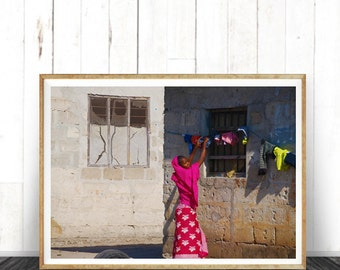 African Life  photography, home decor, wall art African art print, art print, photo  Zanzibar village, printing Photo, village design, art,