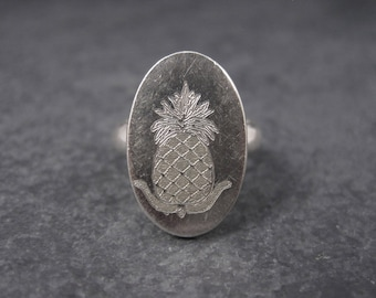 Vintage Sterling Pineapple Ring Size 5.5