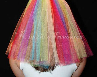 Over The Rainbow Wedding or Bachelorette Party Veil