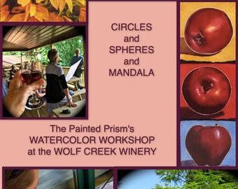 Watercolor Workshop at the Wolf Creek Winery -- DEPOSIT