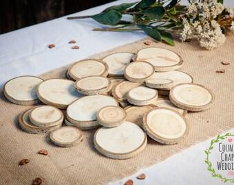 25 Assorted Aspen Slices~  Summer Wedding