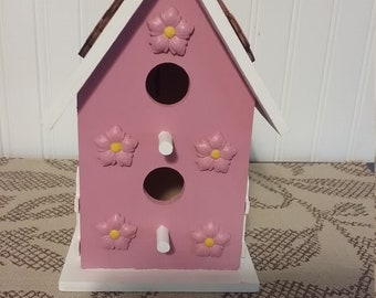Rose Floral Birdhouse