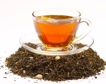 Tea Jasmine Green Loose Leaf Hand Blended Tea 4 ounces floral