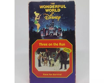 The Wonderful World of Disney Three On The Run and Race For Survival 1994 VHS