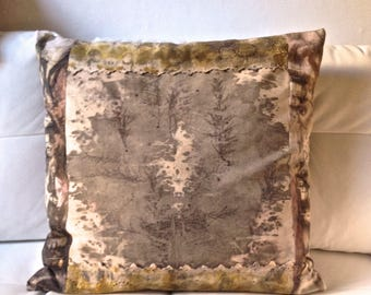 14 large cushion cover, home decor, cotton dyed by hand, by contact natural dye, vegetable dye