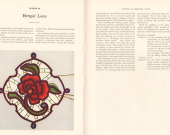 1941 Singer Instructions for Art Embroidery & Lacework using a sewing machine