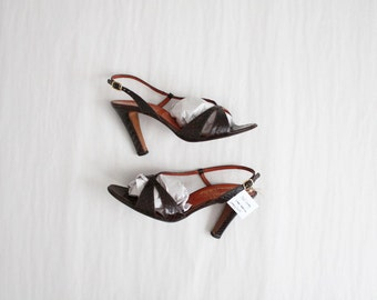 SALE | snakeskin heels 7 |  strappy sandals | size 7 heels
