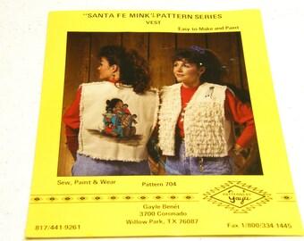 Santa Fe Mink Vest Pattern 704: Pueblo Storyteller