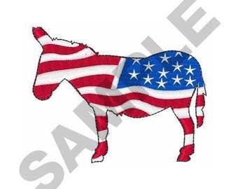 Democratic Donkey - Machine Embroidery Design
