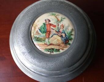 Vintage Music Powder Box
