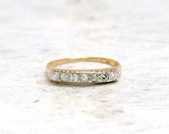 bands eternity set square p wedding pave c diamond antique micro with emerald platinum reproduction band