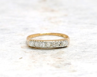 p diamond band m rose antique eternity gold ring bands