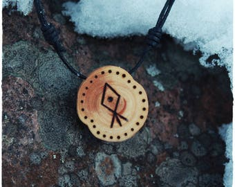 Veden väki. Water folk • Shamanic necklace • Wooden pendant • Spirit animal • Witch necklace • Pagan jewelry • Primitive • Tribal jewelry