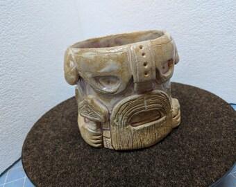 Thor Coffee Mug - Original Stoneware Sculpture by Danny Korves
