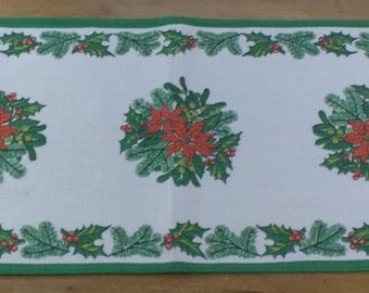 Christmas table skater 1970 70s Place rug table cover