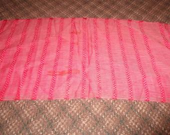 vintage head neck scarf red oblong