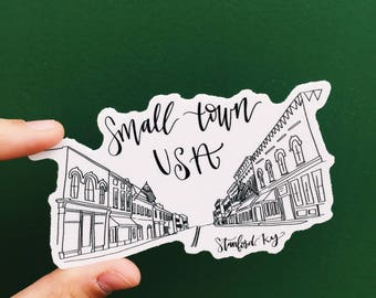 Small town girl stickers / / Farmhouse stickers / / Stickers / / Decals / / Hometown stickers