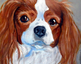 Custom Portrait Art, Dog Portrait Painting, Oils on Canvas, Spaniel or any breed