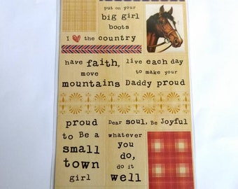 Cowgirl Tiny Text | 21 Stickers | Cosmo Cricket® | Country