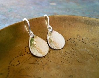 Silver Teardrop Earring. Hammered Earrings. Silver Rain Drop Earrings. Silver Tear Drops. Handmade Sterling Silver Earrings. Silver Earrings