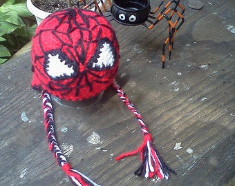 Spiderman Inspired Hat Teen/Adult Size -MADE to ORDER- photo prop, Halloween, costume
