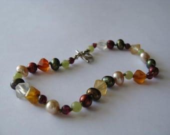 Hand-knotted Gemstone Bracelet