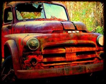 Joe Jr - Old Rusty Truck - Dodge - Fine Art Photograph by Kelly Warren