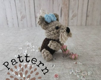 Crochet dog pattern : Amigurumi Terrier ,Yorkshire Terrier pattern