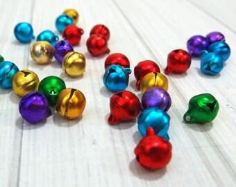 Mini Jingle Bells - Multi-Colored Aluminum Bells