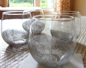 Set of 4 Handpainted Sparkling Tumblers